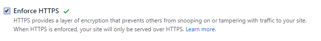 Enforce HTTPS